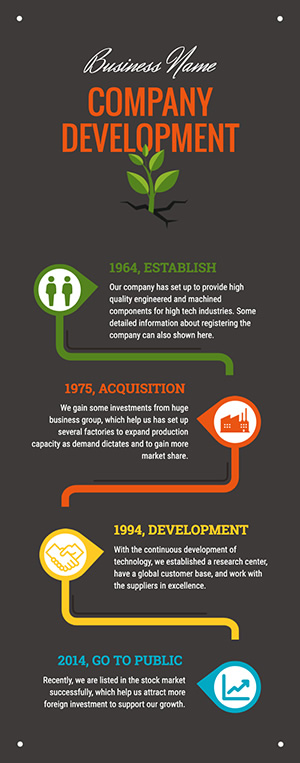 Company Development Infographic Design