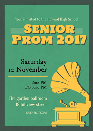 Senior Prom Party Invitation Design