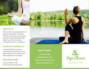 Yoga Exercise Brochure Design
