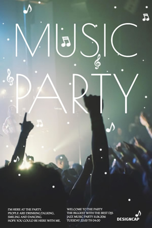 Music Party Pinterest Graphic Design