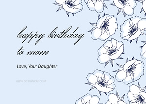 Floral Birthday Wishes Card Design