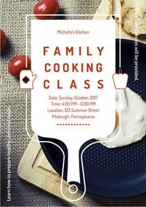 Education Cooking Class Flyer Design