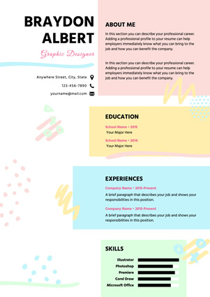 Graphic Designer Resume Design