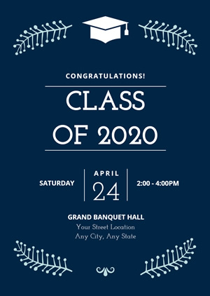 Simple Graduation Invitation Design