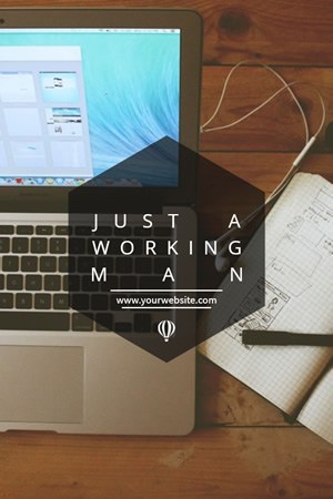 Working Man Pinterest Graphic Design