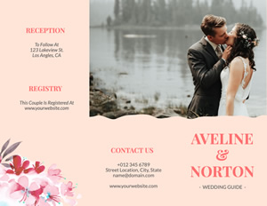 Bride and Groom Brochure Design