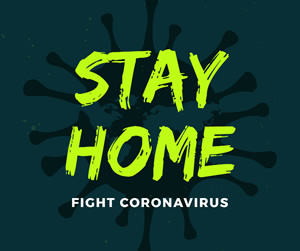 Stay Home and Fight Virus Facebook Post Design