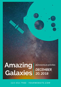 Amazing Galaxy Astronomical Activity Poster design
