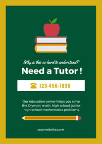 Apple and Book Education Center Poster design