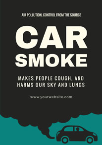 Automobile Exhaust Air Pollution Poster design