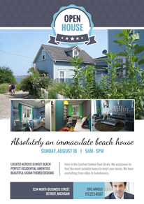 Beach House Photo Real Estate Flyer design