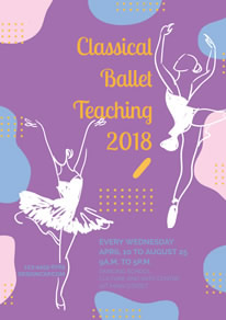 Beautiful Ballet Teaching Class Poster design