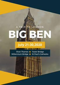 Big Ben Photo London Poster design