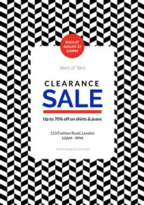 Big Sale Clearance Poster design