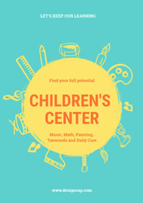 Blue Child Center Promotional Poster design