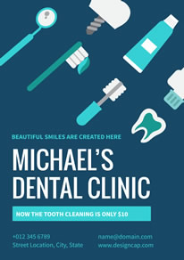 Blue Dental Clinic Poster design