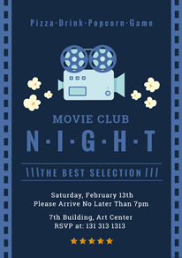 free movie night poster flyer designs designcap poster flyer maker