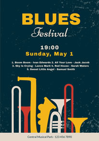 Blues Music Festival Poster design
