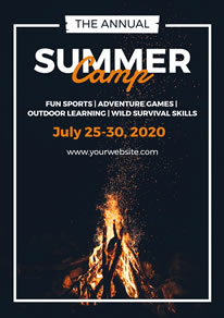 Bonfire Summer Camp Poster design