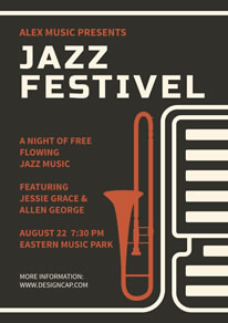 Brown Jazz Festival Poster design
