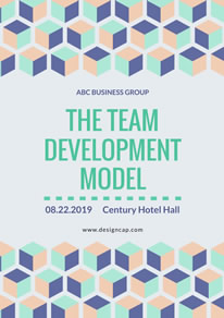Business Group Meeting Poster design