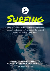 Choppy Wave Surf Player Poster design