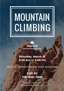 Climbing Photo Club Flyer design