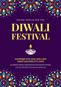 Free Diwali Poster Designs Designcap Poster Maker