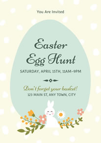 Cute Decorative Easter Egg Hunt Poster design