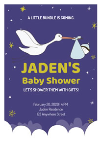 Free Baby Shower Poster Designs Designcap Poster Maker
