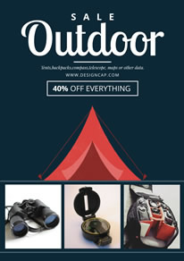 Dark Clothing Outdoor Equipment Sale Poster design