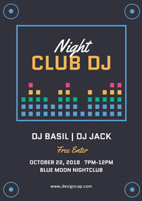 Dark Nightclub DJ Poster design
