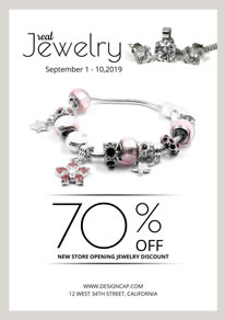 Delicate Clothing Jewelry Poster design