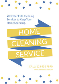 Dots and Banner Cleaning Service Flyer design