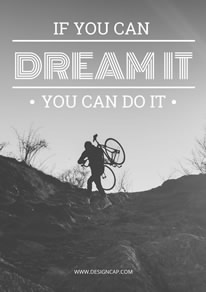 Dream Quote Motivational Poster design