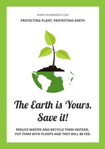 Earth and Sprout Environment Protection Poster design