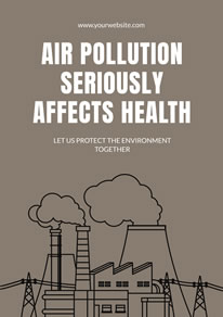 Factory Fumes Air Pollution Poster design