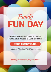 Family Fun Day Activity Poster design