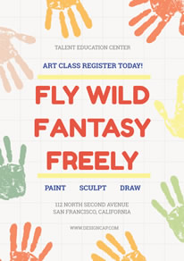 Fantasy Painting Learning House Poster design