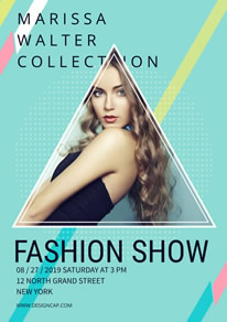 Fashionable Girl Show Poster design