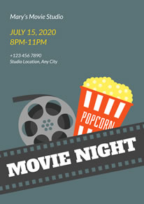 Free Movie Night Poster/Flyer Designs | DesignCap Poster ...