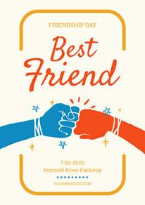 Fist Bump Friendship Day Poster Design