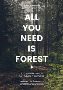 Forest Photo Environment Protection Flyer design