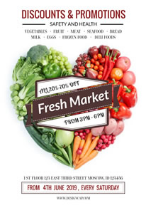 Fresh Market Discount Poster design
