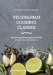 Fresh Vegetarian Cooking Classes Poster design