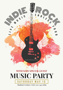 Fun Rock Music Party Poster design