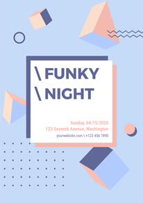 Geometrical Funky Night Poster design