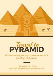 Great Sphinx and Pyramid Poster design