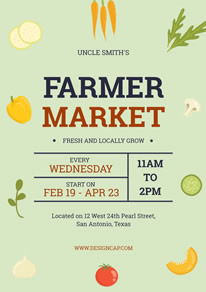 Green Fresh Farmer Market Poster design