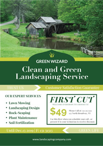 Green Landscaping Service Flyer design